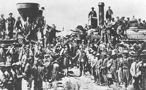 Transcontinental Railroad Completed Picture Book Woman