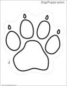 Dog paw pattern