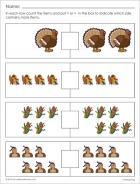 Sample math worksheet for Thanksgiving