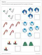 Sample worksheet for the Christmas season