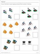 Simple counting worksheet