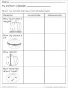 Pumpkin lab worksheet