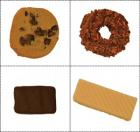 Four different varieties of cookies