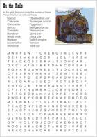 Train word search puzzle